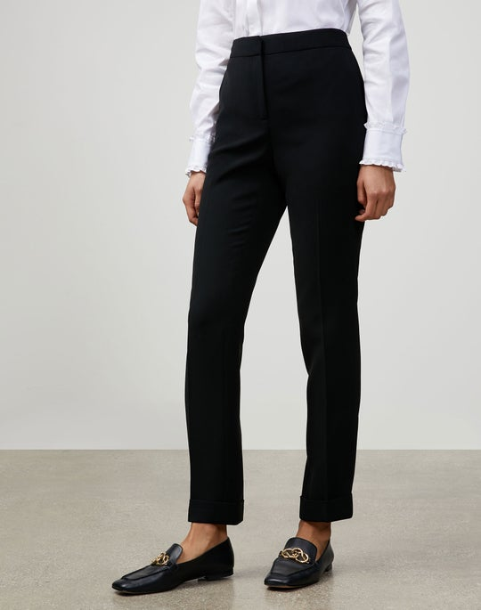 Plus-Size Finesse Crepe Cuffed Clinton Pant