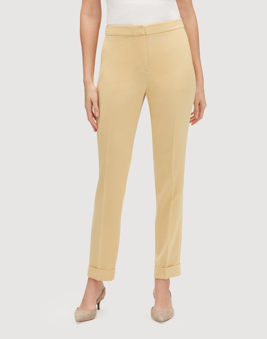 Finesse Crepe Cuffed Clinton Pant