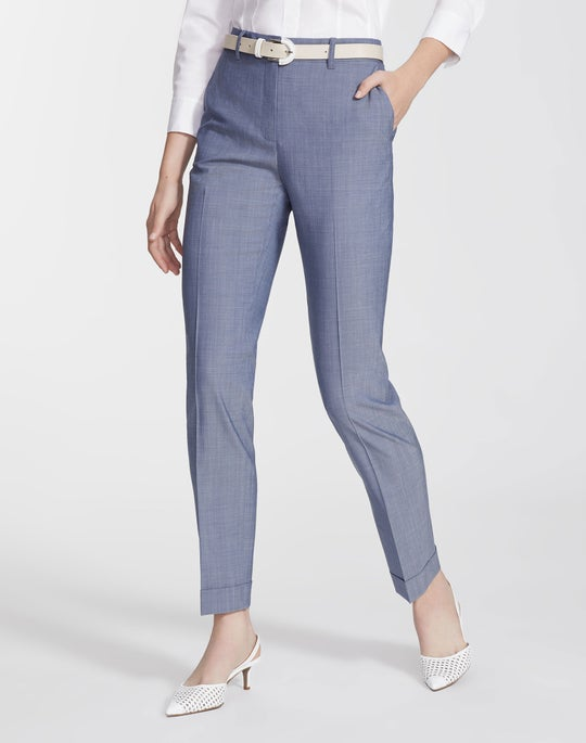Plus-Size Nova Wool Cuffed Clinton Pant