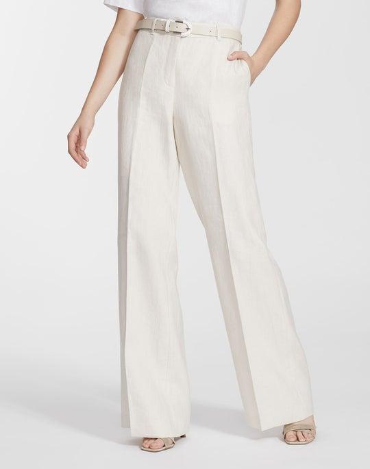 Petite Lavish Linen Dalton Wide-Leg Pant