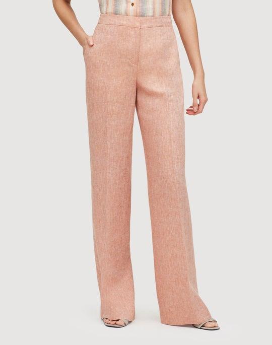 Leopald Linen Dalton Wide-Leg Pant