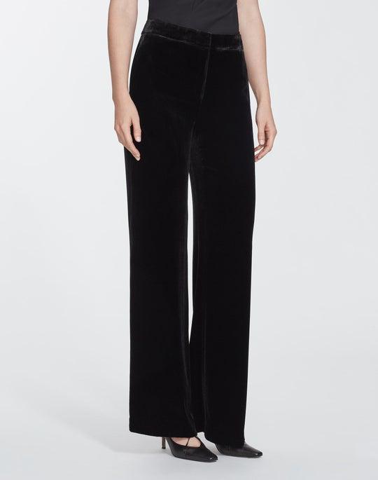Plus-Size Classic Velvet Dalton Wide-Leg Pant