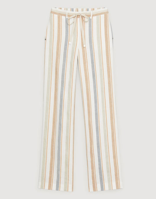 Harmonious Linen Stripe Columbus Wide-Leg Pant