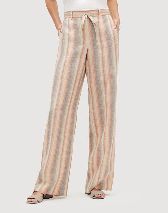 Skyscape Stripe Columbus Wide-Leg Pant