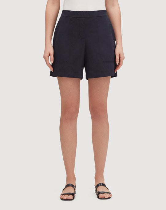 Petite Italian Bi-Stretch Pima Cotton Fulton Short