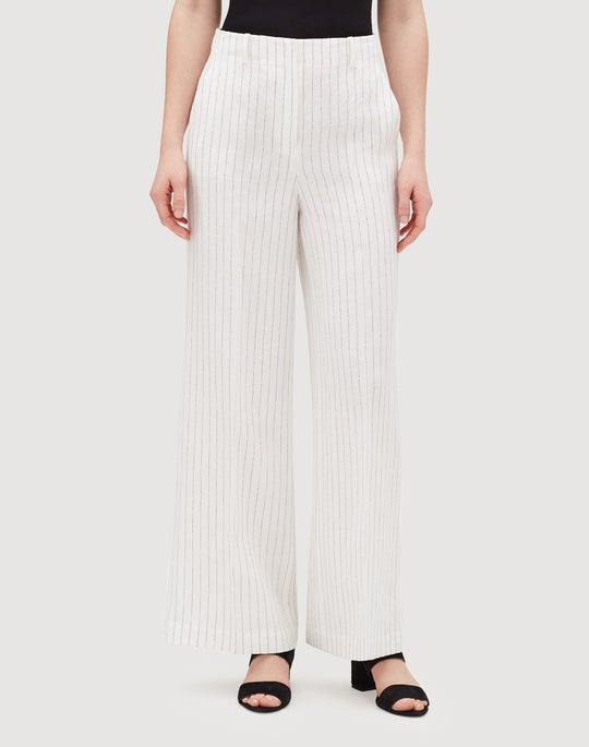 Arcadian Pinstripe Linen Kensington Pant