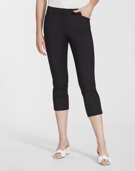 Plus-Size Fundamental Bi-Stretch Manhattan Skinny Capri
