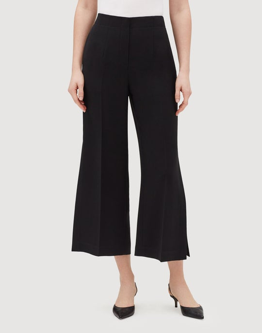 Finesse Crepe Downing Cropped Side Slit Pant