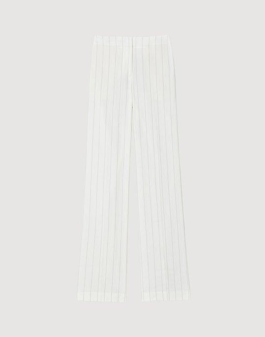Plus-Size Austere Pinstripe Dalton Full Leg Pant