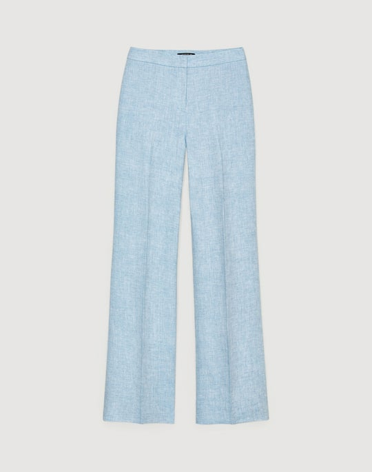 Plus-Size Bravado Italian Linen Dalton Full-Leg Pant