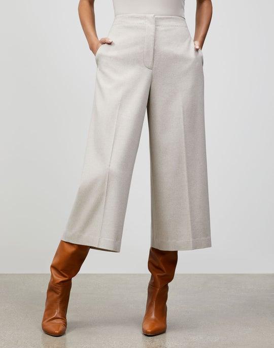 Elite Italian Wool-Cashmere Ryerson Culotte