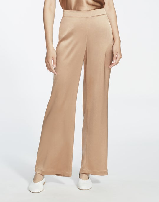 Plus-Size Reverie Satin Cloth Ankle Riverside Pant