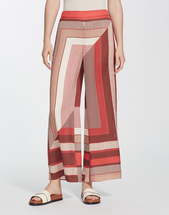 Prism Print Twill Ankle Riverside Pant