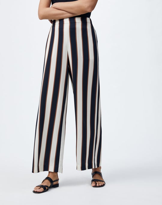 Plus-Size Seaside Stripe Riverside Ankle Pant