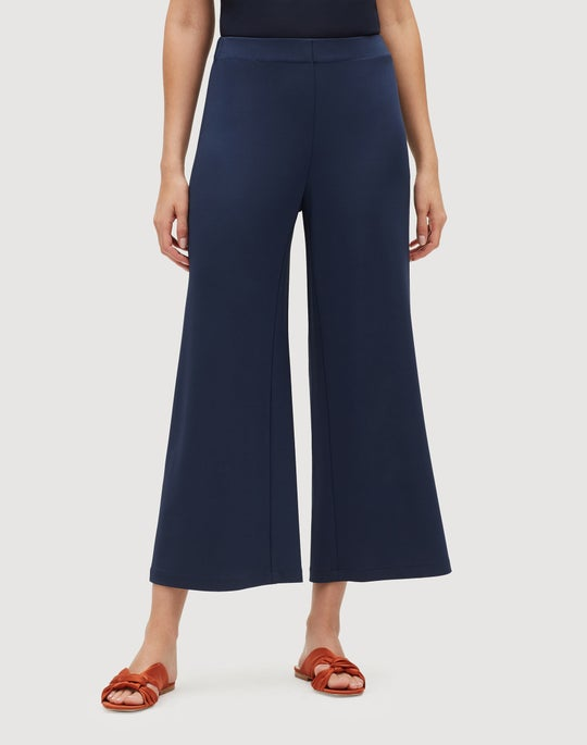 Plus-Size Midweight Matte Jersey Cropped Riverside Pant