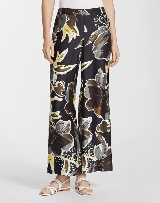 Poppy Print Sheen Cloth Ankle Riverside Pant