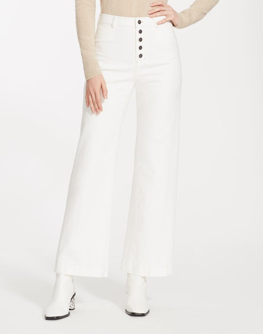 Yarn-Dyed Denim Ankle Clark Pant