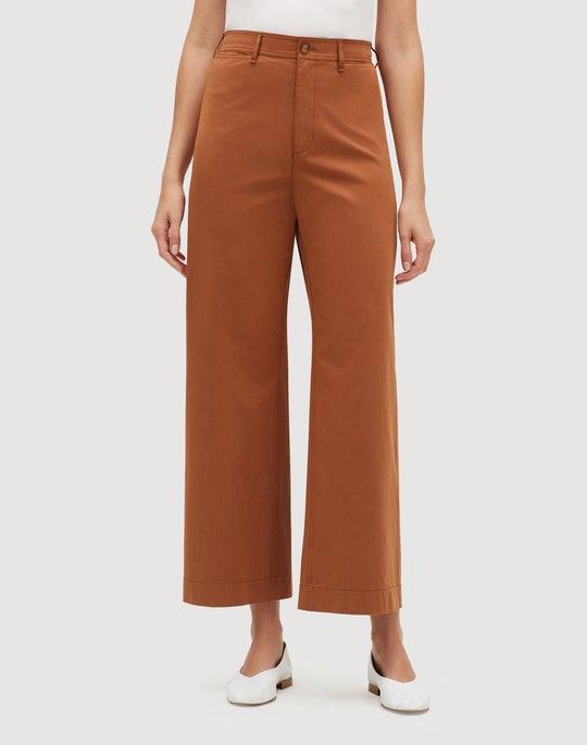 Italian Bi-Stretch Pima Cotton Cropped Clark Pant