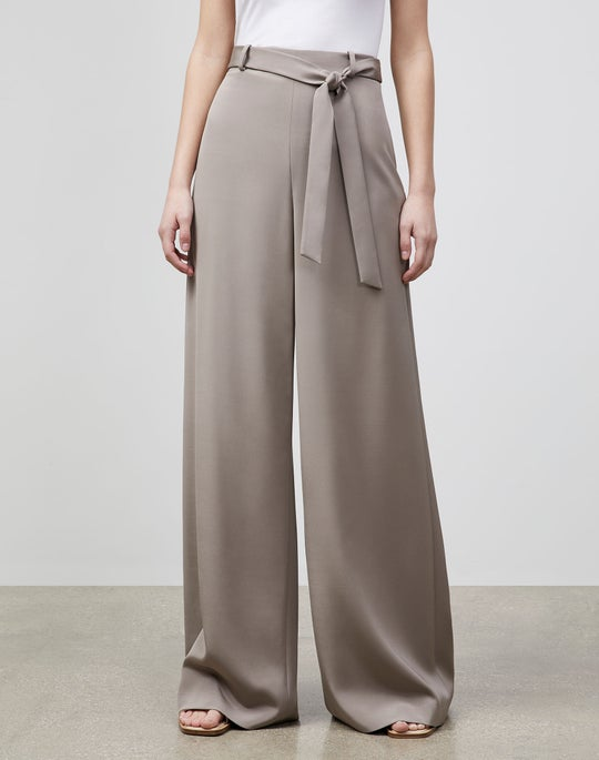 Plus-Size Jackson Wide-Leg Pant In Luxe Stretch Crepe De Chine