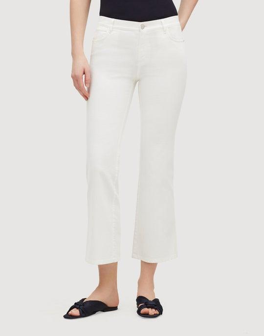 Yarn-Dyed Denim Cropped Mercer Flare Jean