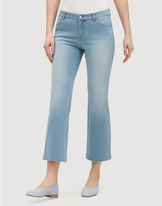 Prestige Denim Cropped Mercer Flare Jean