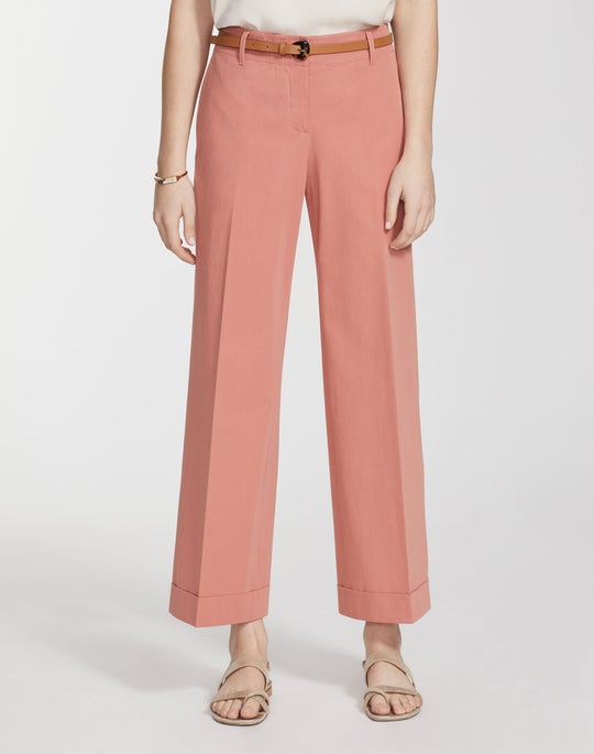Italian Bi-Stretch Pima Cotton Cropped Broadway Pant