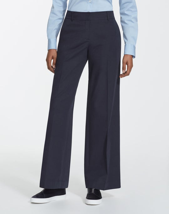 Plus-Size Italian Bi-Stretch Pima Cotton Broadway Pant