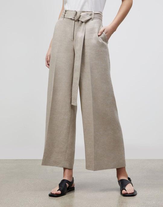 Petite Rockefeller Wide-Leg Pant In Lavish Linen