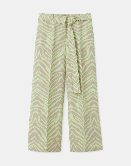 Rockefeller Pant In Zevron Print Coastal Cloth