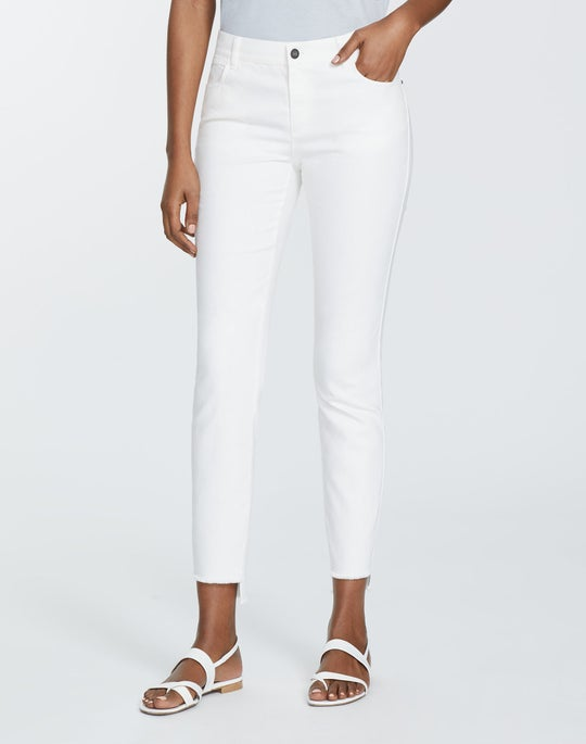Petite Yarn-Dyed Denim Step Hem Mercer Pant