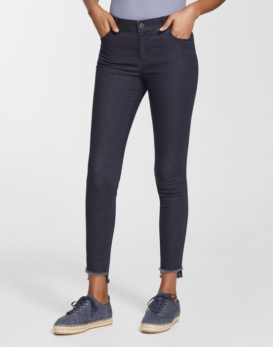 Plus-Size Italian Primo Denim Step Hem Mercer Jean