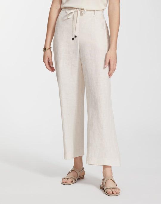 Plus-Size Illustrious Linen Cropped Columbus Wide-Leg Pant