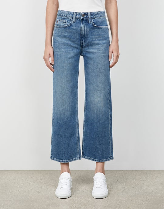 L148 Authentic Denim Cropped Wyckoff Wide-Leg Jean