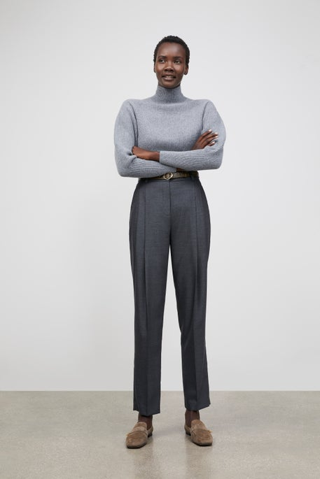 Blouson Sleeve Mockneck Sweater and Ellis Pant