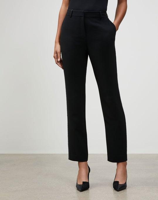 Plus-Size Finesse Crepe Embellished Clinton Pant