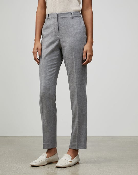 Wool-Silk Suiting Clinton Pant