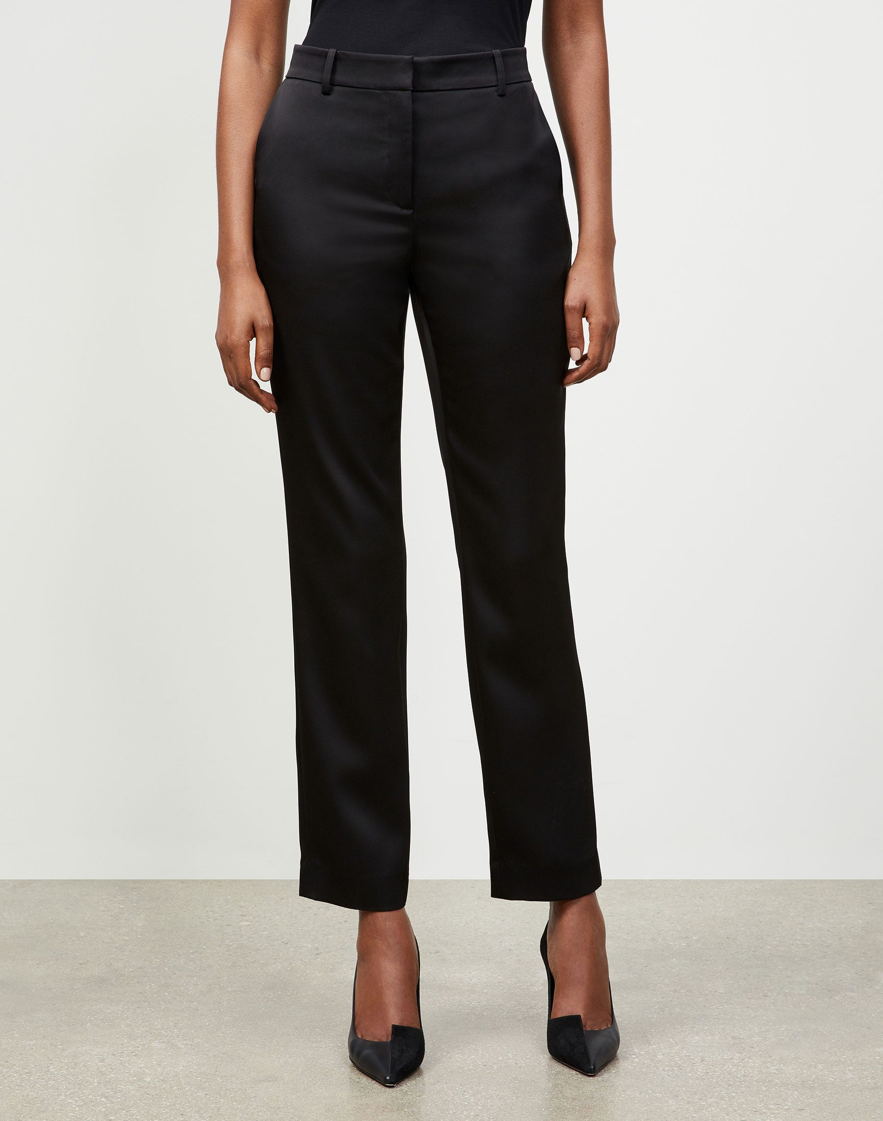 Lafayette 148 RADIANT SATIN CLOTH CLINTON PANT