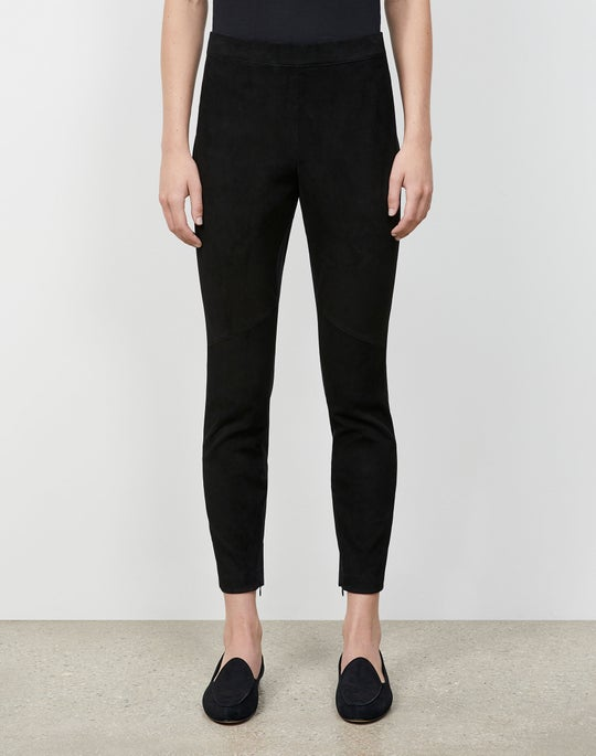 Velvety Stretch Suede Murray Skinny Pant