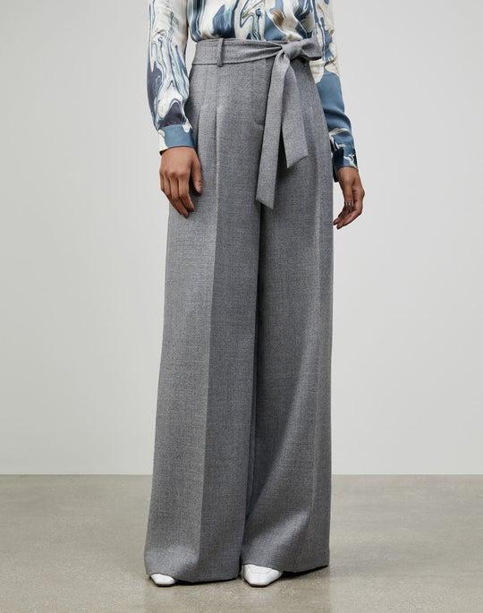 Plus-Size Euphoric Mélange Cloth Tillary Wide-Leg Pant