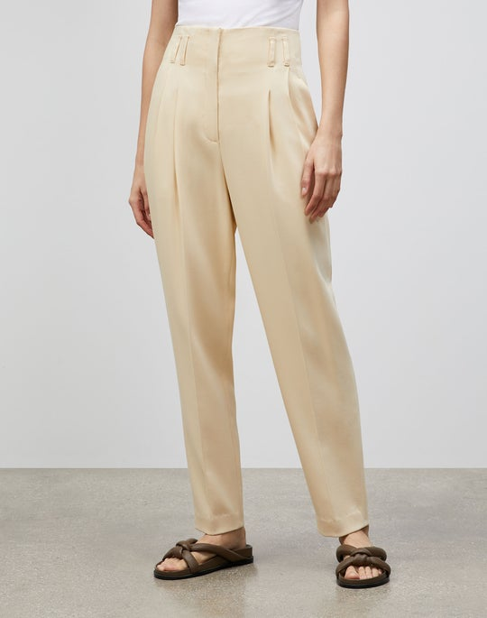 Petite Degraw Pant In Surrealist Double Face Wool