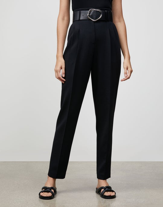 Luxe Italian Double Face Degraw Pant