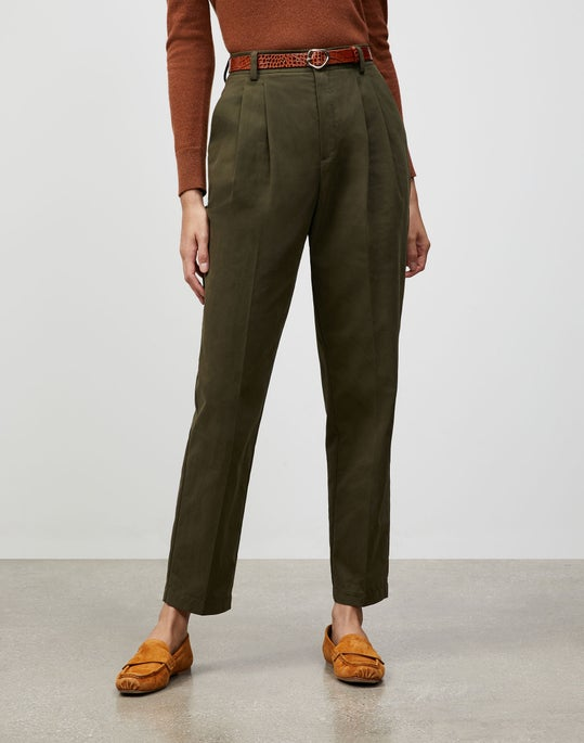 Italian Sueded Cotton Franklin Pant