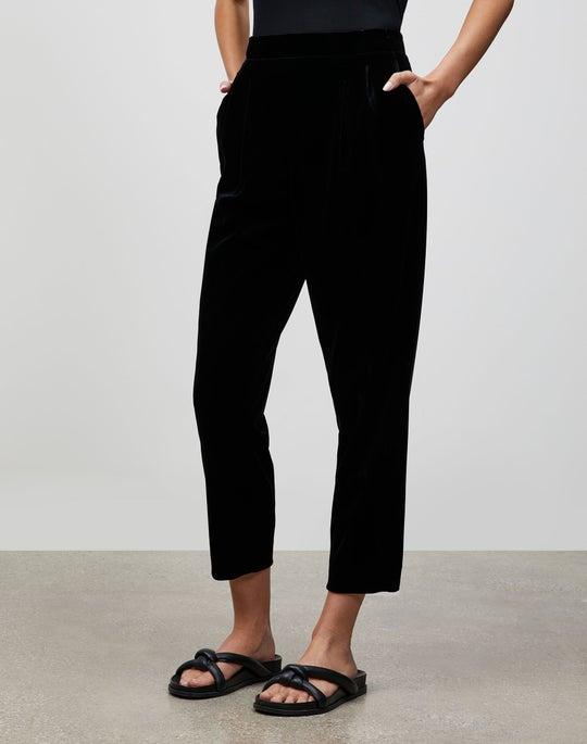 Plus-Size Velvet Jersey Cropped Prospect Pull-On Pant