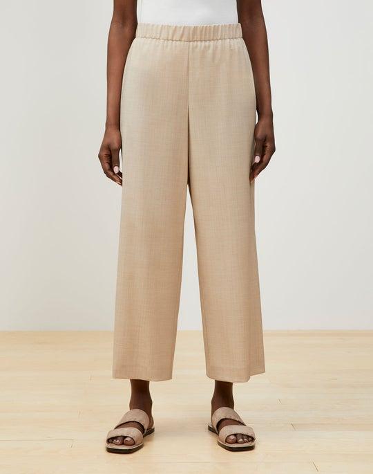 Riverside Cropped Pant In Nova Wool Jersey