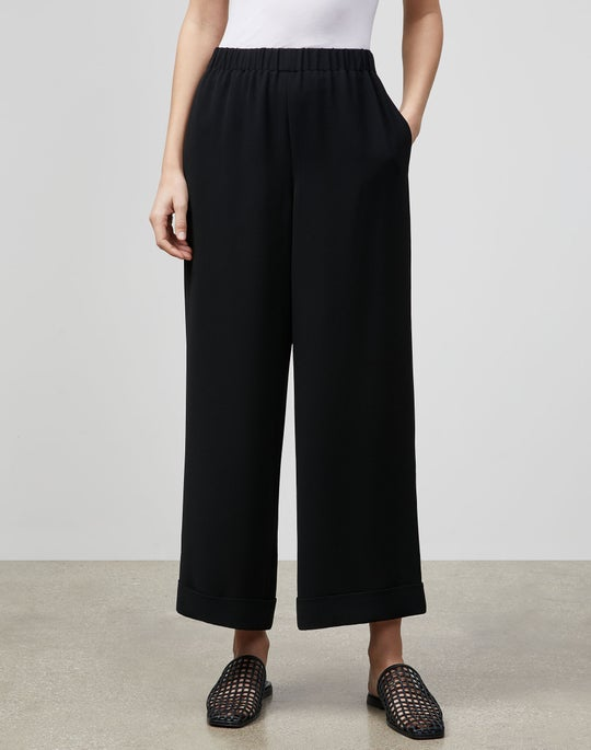 Plus-Size Riverside Cuffed Ankle Pant In Finesse Crepe