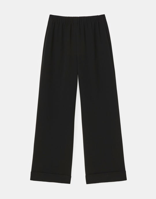 Petite Riverside Cuffed Ankle Pant In Finesse Crepe