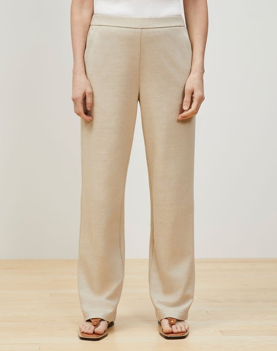 Webster Ankle Pant In Italian Cotton-Linen Terry