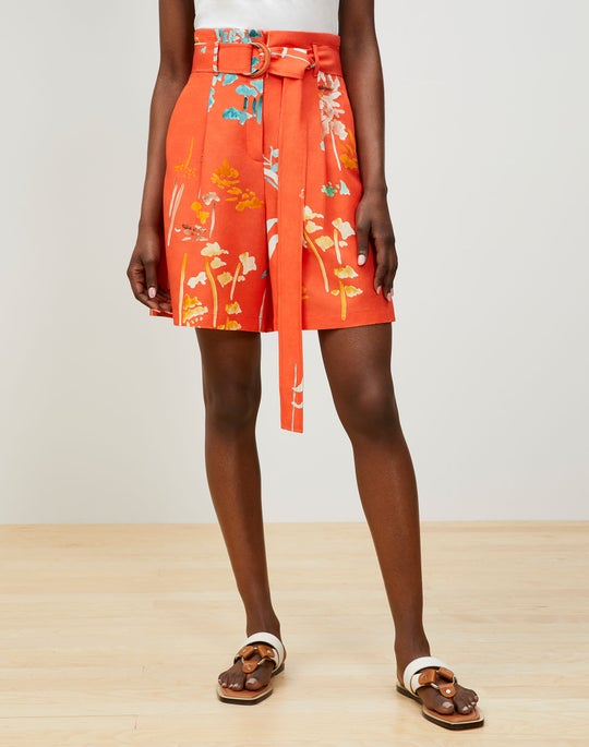 Degraw Short In Oasis Print Coastal Cloth