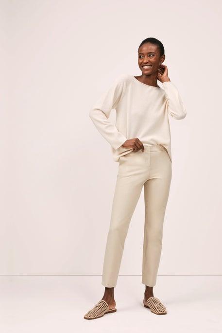 Bateau Neck Sweater and Manhattan Pant