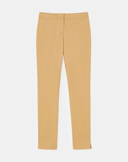 Plus-Size Manhattan Slim Ankle Pant In Skylight Cotton